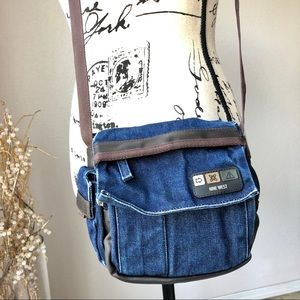 Nine West Denim Blue Jean Crossbody Mini Purse Bag